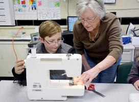Dieterich students learn to sew