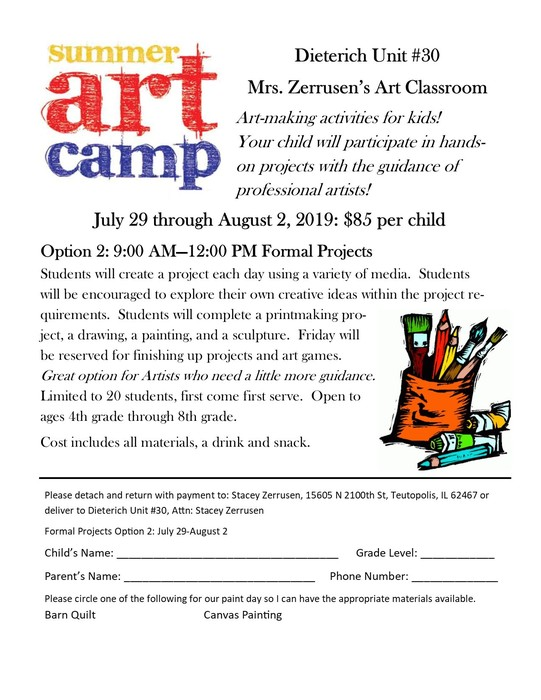 Art Program fliers