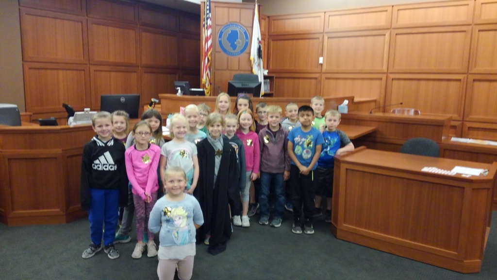 First graders on a field trip to the Effingham Government Center.